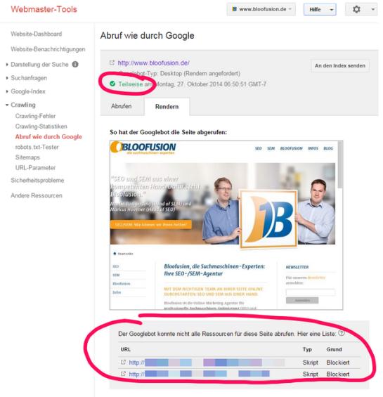 Änderungen in den Google-Webmaster-Richtlinien für JavaScript- und CSS-Dateien - Viele renommierte Website-Betreiber hinken hinterher