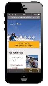 Top Konvertierung mit den neuen mobilen Landingpages von Tiscover.