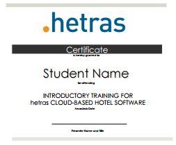 Angehende Hotelbetriebswirte lernen bei ILS mit cloud-basierter hetras Software