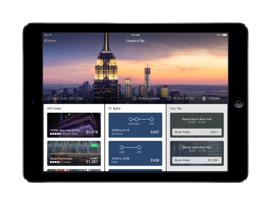 Expedia Tablet App